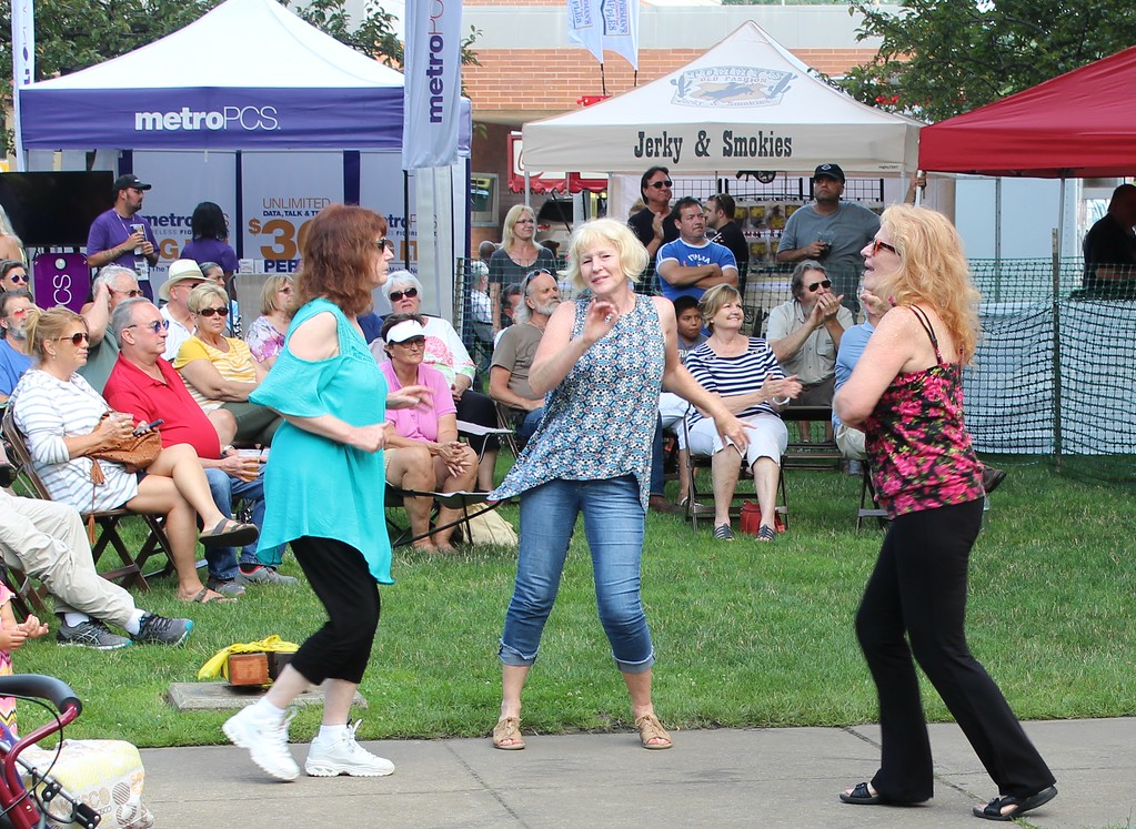 . Tawana Roberts � The News-Herald <br> Patrons enjoy the festivities at Painesville Party in the Park, July 14, 2017.