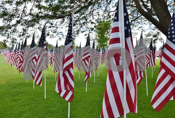 In addition to the Wall that Heals, Flags of Honor were on display at Sycamore Community Park July 13 to 16. Each American flag in the field represents an American POW or MIA from the Vietnam War that did not return home.