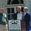 Paul DiCicco — The News-Herald <br> Ohio Senator Kenny Yuko presents a proclamation from the state Senate to Mayor Margalis and Council President Dave Krych.