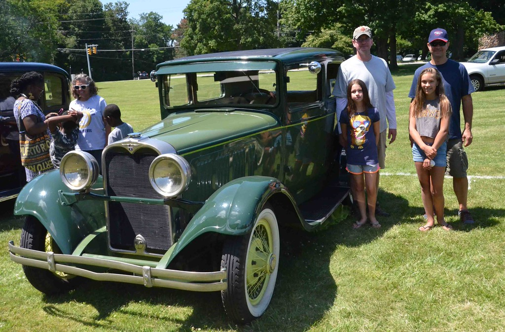 . Paul DiCicco � The News-Herald <br> Visitors enjoy the antique car show on July 15, 2017 at the Wickliffe Bicentennial celebration.