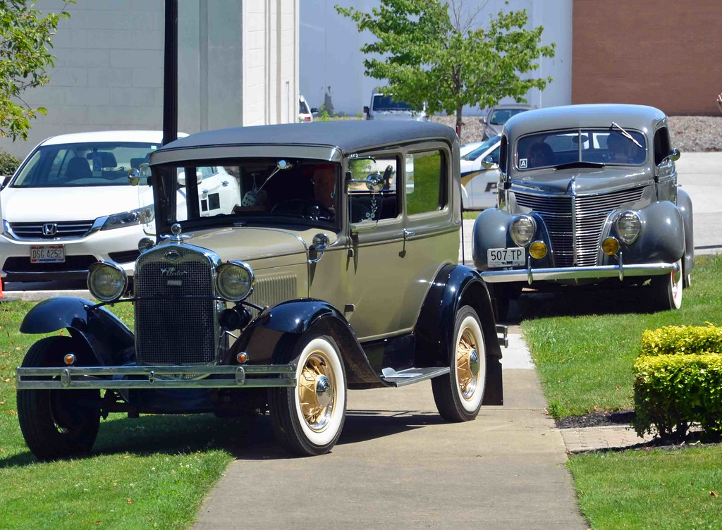 . Paul DiCicco � The News-Herald <br> NEO (Northeast Ohio)Model A Club arriving with their whole membership to help celebrate the City of Wickliffe�s Bicentennial on July 15, 2017 at Wickliffe City Hall.