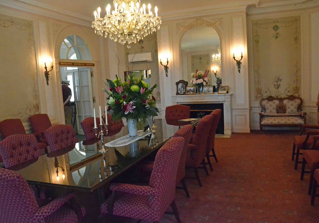 . Paul DiCicco � The News-Herald <br> The Victorian Room in the Coulby Mansion, currently the Wickliffe City Hall library and formal meeting room.
