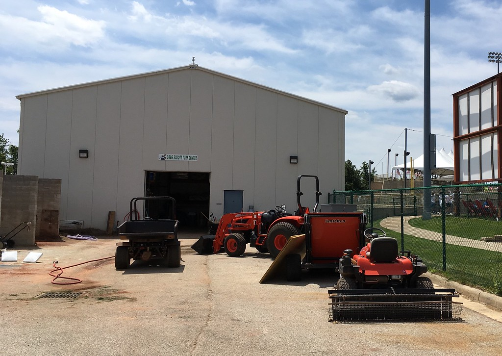 . David S. Glasier - The News-Herald Turf maintenance garage and work yard