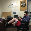 Captains manager Larry Day in his office, home clubhouse