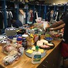 David S. Glasier - The News-Herald<br /> Home clubhouse, pre-game spread
