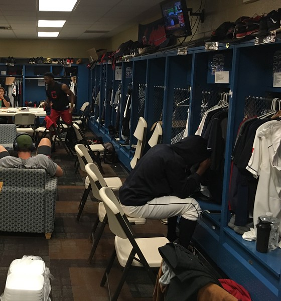 David S. Glasier - The News-Herald<br /> Home clubhouse, pre-game scene