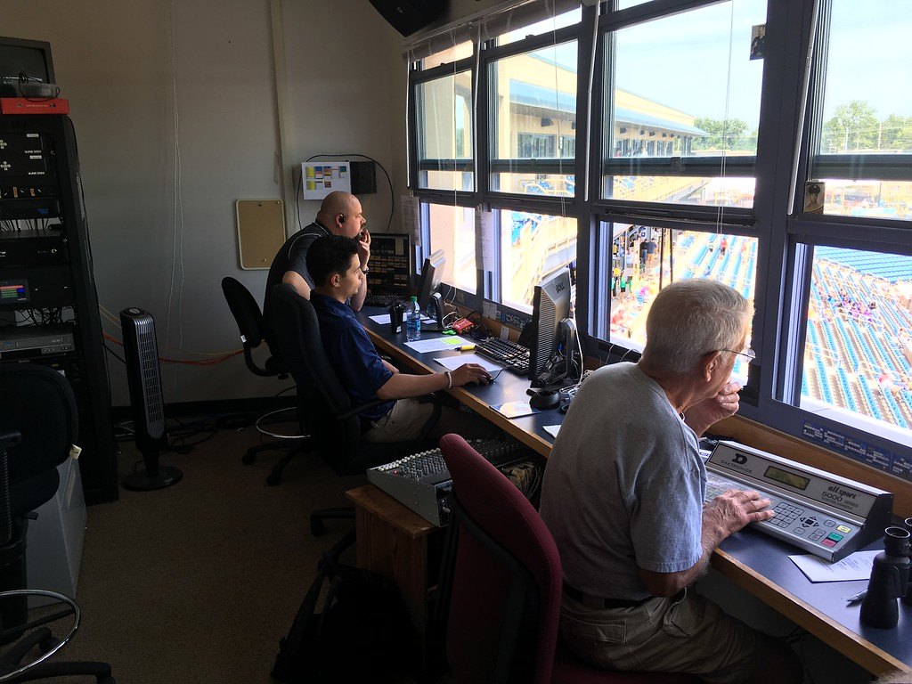 . David S. Glasier - The News-Herald Operations booth, suite level