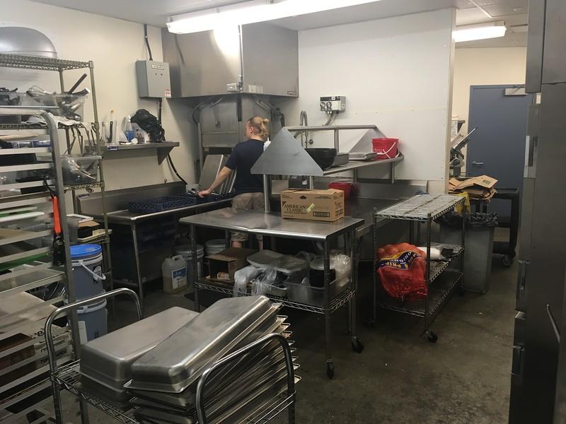 David S. Glasier - The News-Herald<br /> Suite-level kitchen preparation area
