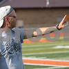 Sam Buckner for Shaw Media.<br /> Sycamore Head Coach Dave Bachta yells from the sidelines during a scrimmage against Dekalb on Tuesday July 19, 2017.