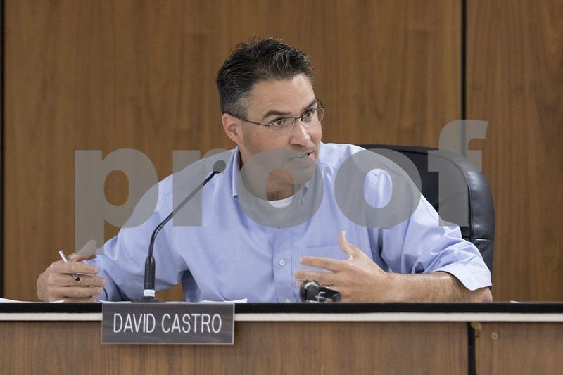 Sam Buckner for Shaw Media.<br /> David Castro raises a question about diversification of downtown to draw people during the daytime on Tuesday July 19, 2017.