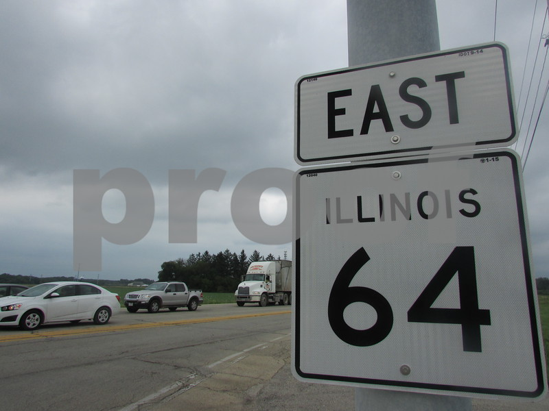 Traffic builds speed from the 45-mph zone westbound on state Route 64, at the intersection with Peace Road. The intersection was the site of 45 crashes in 2016.
