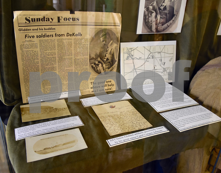 Some of the Clinton Glidden artifacts on display at the Glidden Homestead and Historical Center.<br /> Steve Bittinger - For Shaw Media