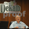 Mayor Jerry Smith makes a point during the DeKalb City Council meeting on Monday.  Steve Bittinger - For Shaw Media