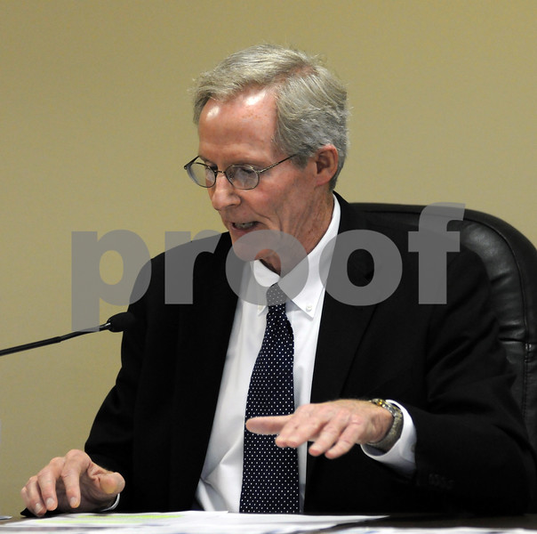 City Manager Bill Nicklas addresses the DeKalb City Council on Monday.  Steve Bittinger - For Shaw Media