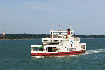 Car ferry on route from East Cowes on Isle of Wight to Southampton, United Kingdom