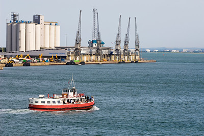 Passenger ferry leaving Southampton, United Kingdom