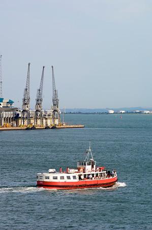 Passenger ferry leaving Southampton, United Kingdom