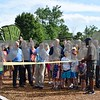 The reopening of Lions Park, 700 W. Taylor St. in DeKalb, was celebrated Saturday, July 22, with a ribbon cutting and refreshments. In addition to all-new playground equipment, the park now features sand volleyball, bags, horseshoes, a half basketball court, a picnic shelter, a council ring, a rock outlook over the Kishwaukee River and a blacktop path winding through a pine grove.