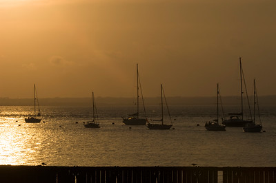 Waterfront at sunset, Yarmouth, Isle of Wight, United Kingdom