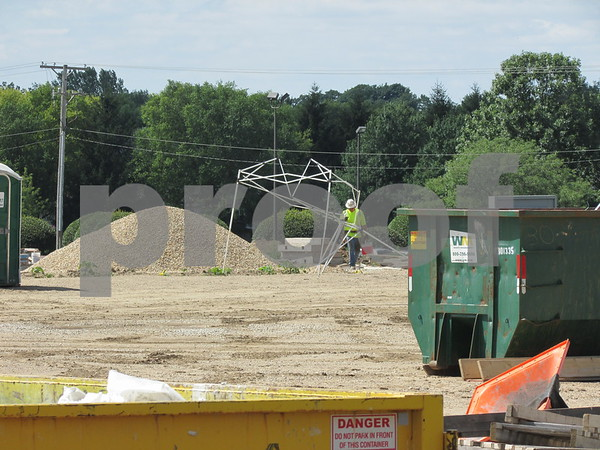 Work continues at the site of the new Northwestern Medicine health and wellness center. An agreement with the city of DeKalb allowing access to city stormwater systems and public right of way options was discussed during Monday's city council meeting.