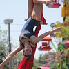 Ali Weibel of the Cincinnati Circus performs aerial acrobatics at the 2018 Lake County Fair on July 25.<br /> Kristi Garabrandt - The News-Herald