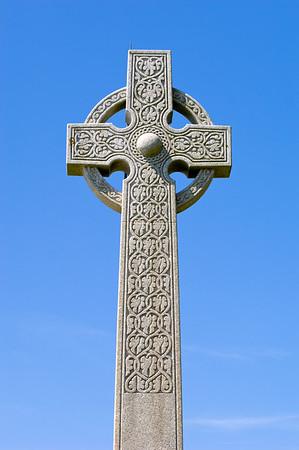 Tennyson Cross overlooking English Channel, Isle of Wight, United Kingdom