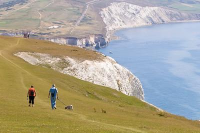 Hiking along Coastal Path , Isle of Wight, United Kingdom