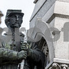 Sam Buckner for Shaw Media.<br /> Statue of a cival war soldier outside the DeKalb County Courthouse on Wednseday July 26, 2017.