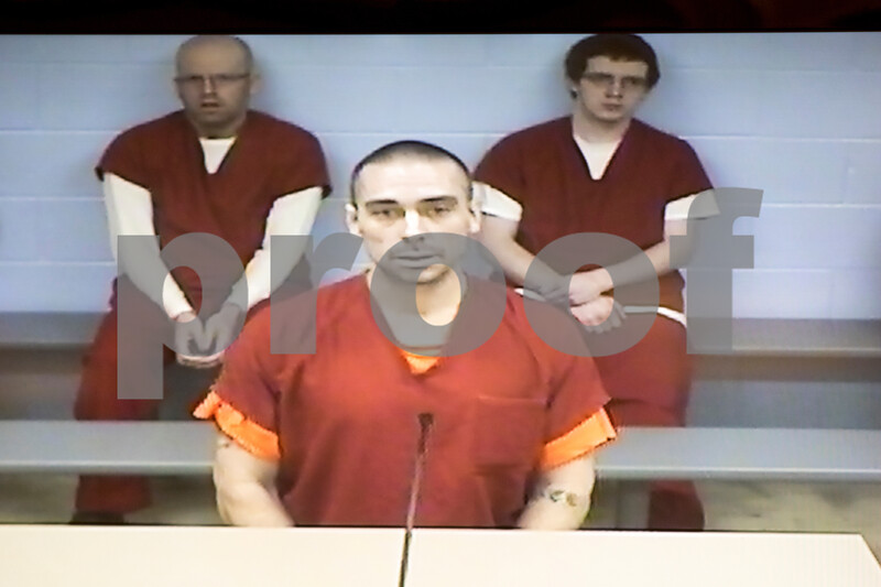 Sam Buckner for Shaw Media.<br /> Ivan Fauce is pictured in court via closed circuit TV on Wednesday July 26, 2017.