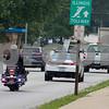 Sam Buckner for Shaw Media.<br /> Officer Jared Burke pulls over a speeder on Wednesday July 26, 2017, Illinois speed awareness day.