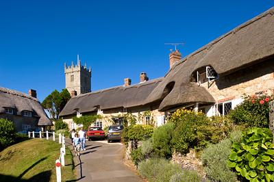 Traditional architecture and parish church, Godshill, Isle of Wight, United Kingdom
