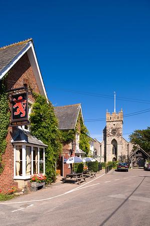 Red Lion Pub by Parish Church, Freshwater, Isle of Wight, United Kingdom