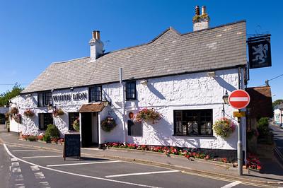 Pub at crossroads, Isle of Wight, United Kingdom