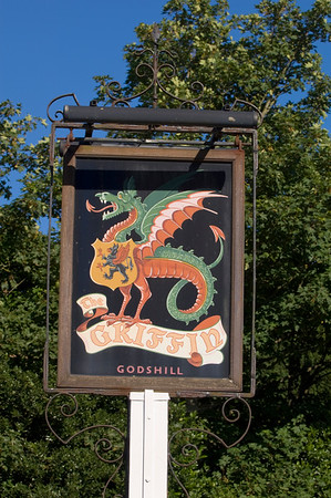 Pub sign, Godshill, Isle of Wight, United Kingdom