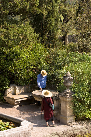 Europe, France, Provence, Villeneuve-Les-Avignon,  Abbey St-Andre and its gardens , Fort St-Andre