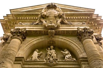 Europe, France, Provence, Villeneuve-Les-Avignon,  La Chartreuse, main gate, Monumental Portal