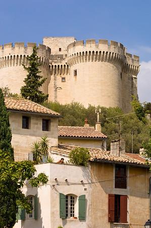Europe, France, Provence, Villeneuve-Les-Avignon,  town view and  Fort St-Andre