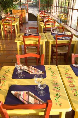 Europe, France, Provence, Venasque, restaurant at Les Remparts hotel