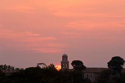 Europe, France, Provence, sunset near Venasque
