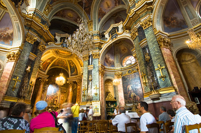 Europe, France, Provence, Nice , Chapelle de la Misericorde, interior