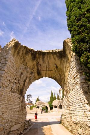 Europe, France, Provence, Nice , Musee de Archeologie, Roman Amphitheatre