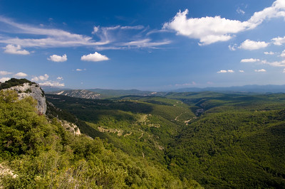 Europe, France, Provence, landscape near village of Mons