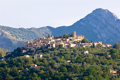 Europe, France, Provence, Coaraze, hilltop village