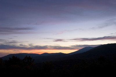 Europe, France, Provence, Mountain view at sunset near village of Mons