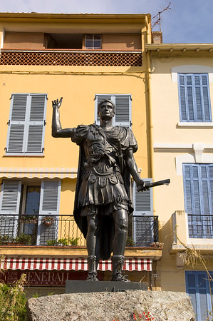 Europe, France, Provence, Frejus, statue of Julius Agricola