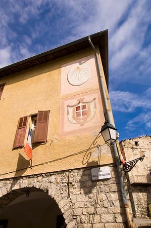 Europe, France, Provence, Utelle, street scene