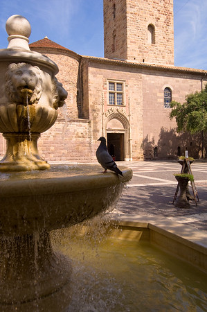 Europe, France, Provence, Frejus, Place Formige, Cathedral
