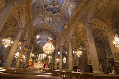 Europe, France, Provence, Menton, Cote de Azur, Saint-Michel Church