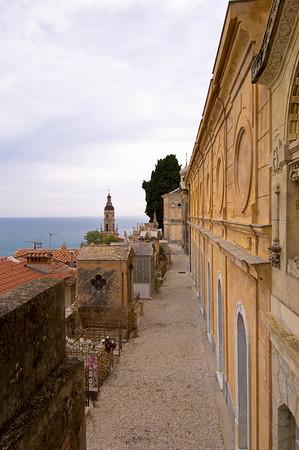 Europe, France, Provence, Menton, Cote de Azur, Cimitiere du Vieux-Chateau