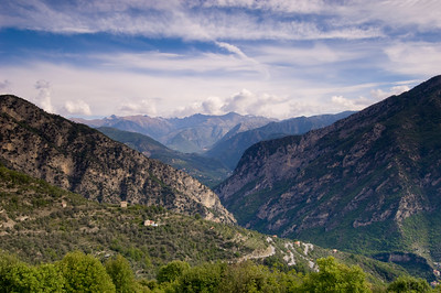 Europe, France, Provence, view over Alps from Utelle village